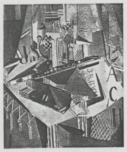 Flöte mit Fenster. 1927 Öl auf Leinwand Maße unbekannt Verbleib unbekannt